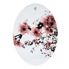 Cherry Blossoms Ornament (Oval)