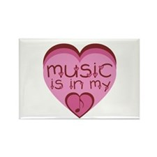 Music is in My Heart Rectangle Magnet