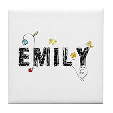 Floral Emily Tile Coaster