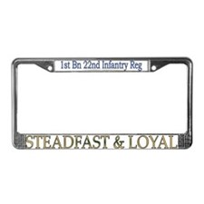 1st Bn 22nd Inf Reg License Plate Frame
