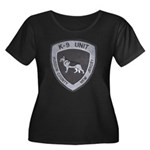 Hudson County K9 Women's Plus Size Scoop Neck Dark