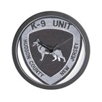 Hudson County K9 Wall Clock