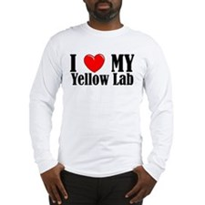 I Love My Yellow Lab Long Sleeve T-Shirt