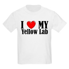 I Love My Yellow Lab Kids T-Shirt