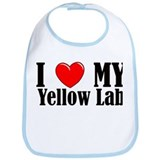 I Love My Yellow Lab Bib