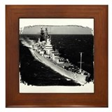 USS Canberra Framed Tile