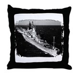 USS Canberra Throw Pillow