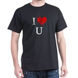 """I (do not) love you"" Black T-Shirt"