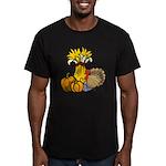 Thanksgiving Harvest Men's Fitted T-Shirt (dark)