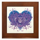 Twilight Eclipse Purple Heart Framed Tile