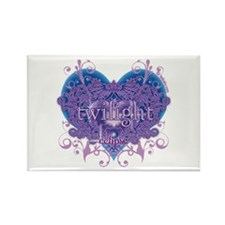Twilight Eclipse Purple Heart Rectangle Magnet (10