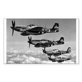 P-51 Formation Rectangle Decal