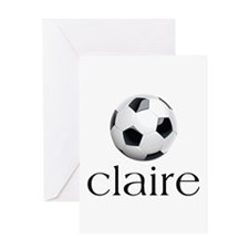Claire Soccer Greeting Card
