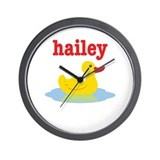 Hailey's rubber ducky Wall Clock