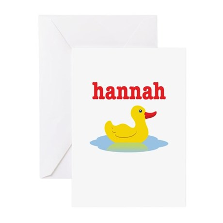 Hannah's Rubber Ducky Greeting Cards (Pk of 20)