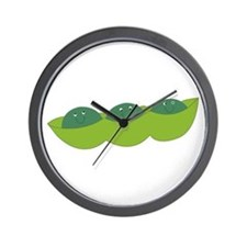Happy peas Wall Clock