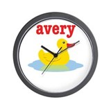 Avery's rubber ducky Wall Clock
