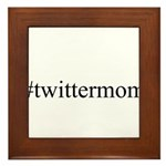 #twittermom Framed Tile