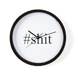 #shit Wall Clock