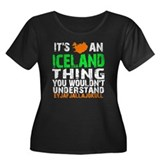 Iceland Thing Women's Plus Size Scoop Neck Dark T-