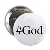 "#God 2.25"" Button (100 pack)"