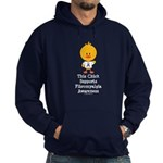 Fibromyalgia Awareness Chick Hoodie (dark)