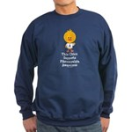 Fibromyalgia Awareness Chick Sweatshirt (dark)