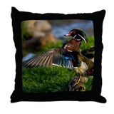 Wood Duck Wing Throw Pillow
