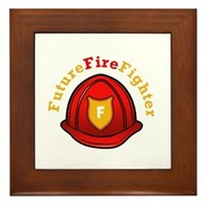 Future Fire Fighter Framed Tile