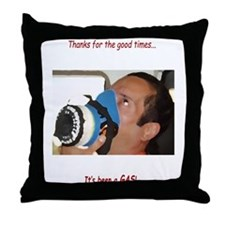 It's Been A Gas Throw Pillow