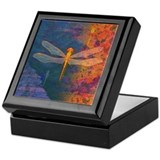 Flaming Dragonfly Jewelry Box