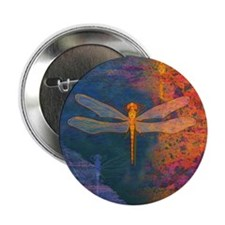 Flaming Dragonfly Button