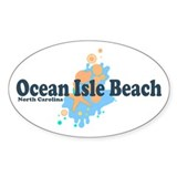 Ocean Isle Beach NC - Seashells Design Decal