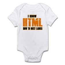 I know HTML - How to Meet Lad Infant Bodysuit