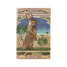 Lepus the Hare Rectangle Magnet