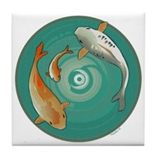 Fish Family Tile Coaster