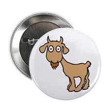 Cute Billy Goat Button