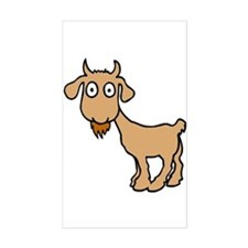 Cute Billy Goat Rectangle Decal