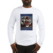 Vintage Circus Tiger Long Sleeve T-Shirt