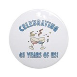 45th Anniversary Party Ornament (Round)
