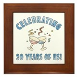 20th Anniversary Party Framed Tile