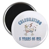 5th Anniversary Party Magnet
