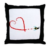Love Bee Throw Pillow