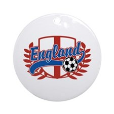England Soccer Ornament (Round)