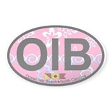 Ocean Isle Beach NC - Oval Design Decal
