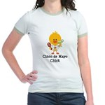 Cinco de Mayo Chick Jr. Ringer T-Shirt