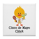 Cinco de Mayo Chick Tile Coaster