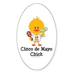 Cinco de Mayo Chick Sticker (Oval 10 pk)