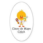 Cinco de Mayo Chick Sticker (Oval 50 pk)