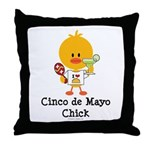 Cinco de Mayo Chick Throw Pillow